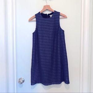 Halogen xxs blue cutout dress
